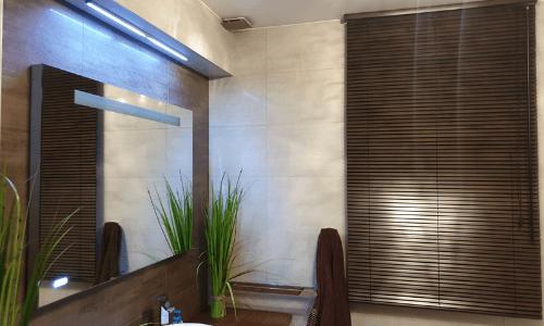 żaluzje drewniane łazienka nawymiar