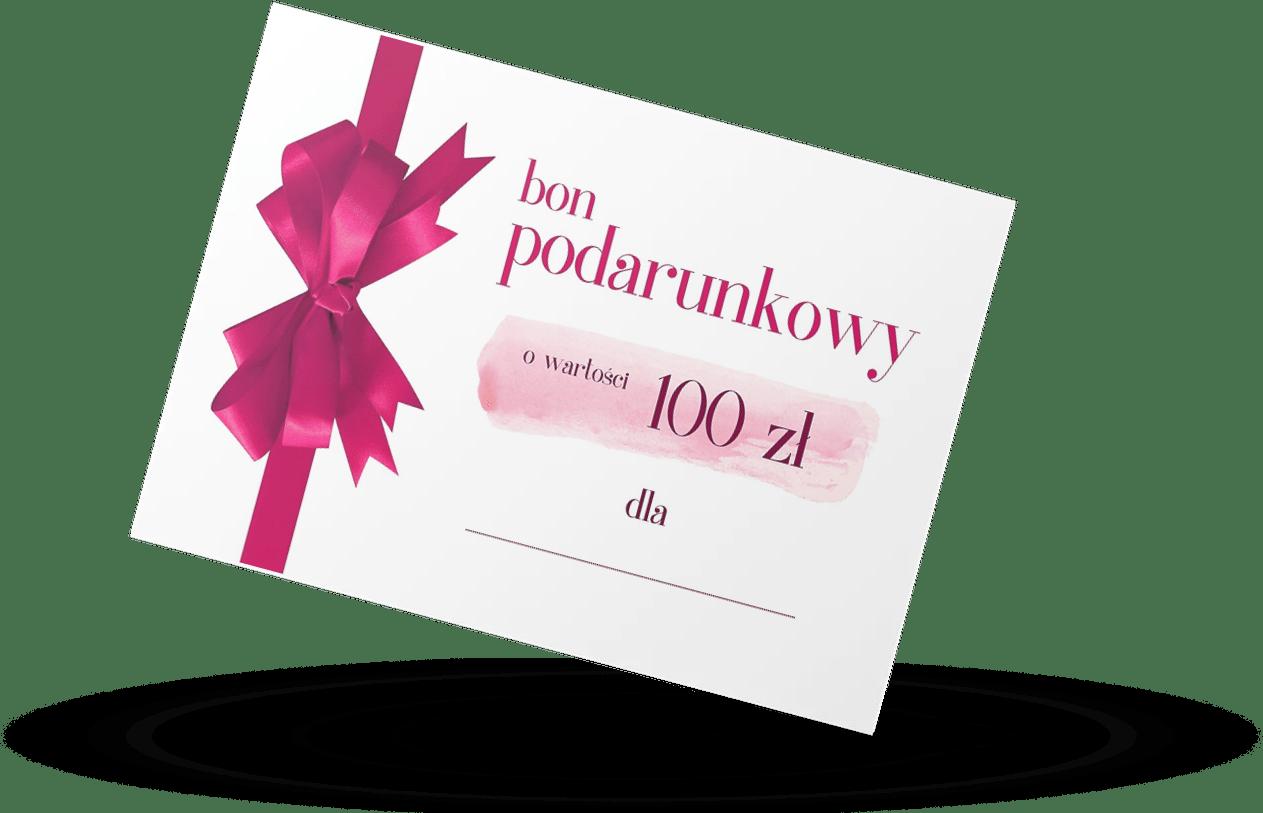 bon podarunkowy 100 złotych